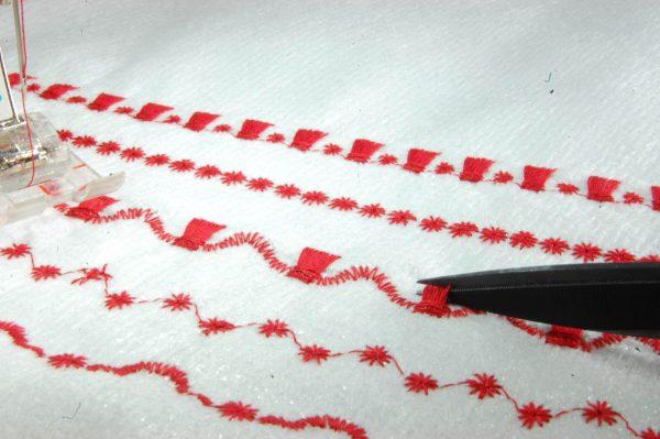 BERNINA sews a RARE Bear-creating tassels