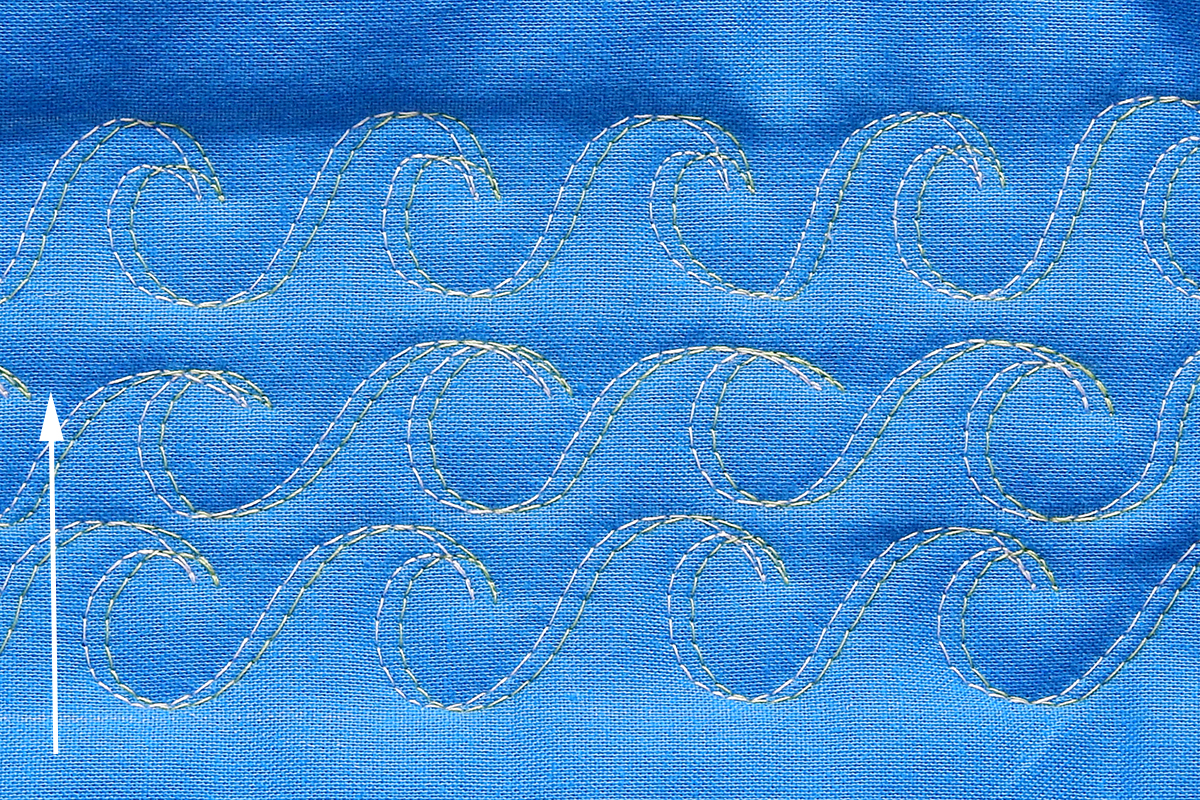 Free-Motion Quilting with a Double Needle WeAllSew