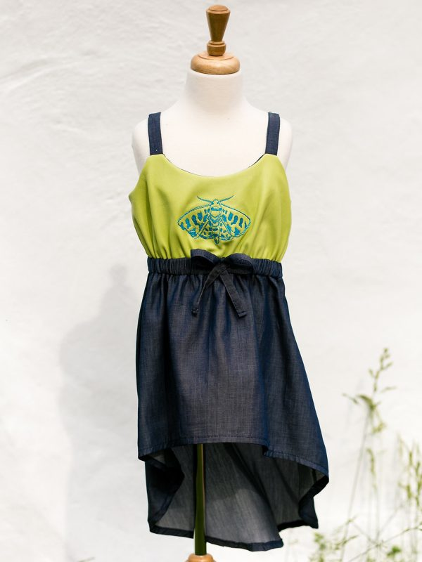 Embroidered Dress with Alison Glass Exlibris Embroidery Design
