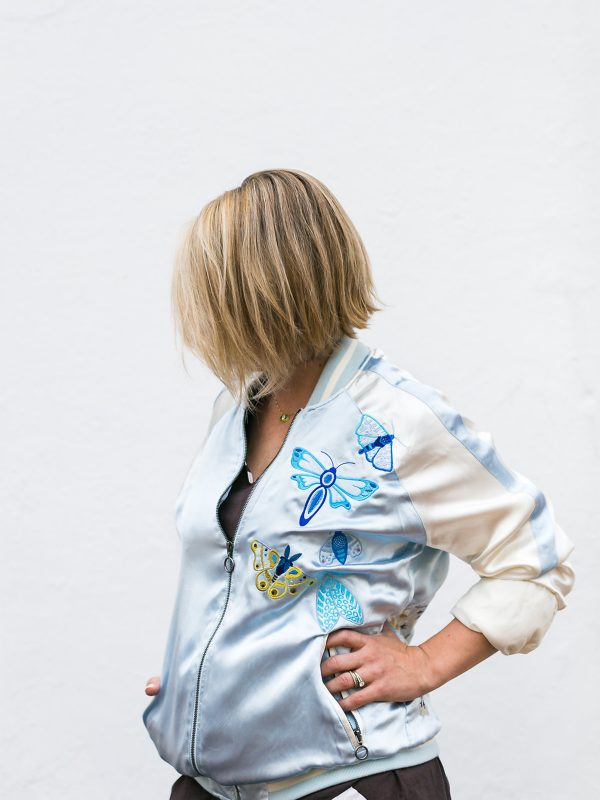 Embroidered Jacket with Alison Glass Exlibris Embroidery Designs