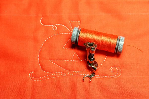 Jack-o-Lantern Free-motion Quilting - supplies