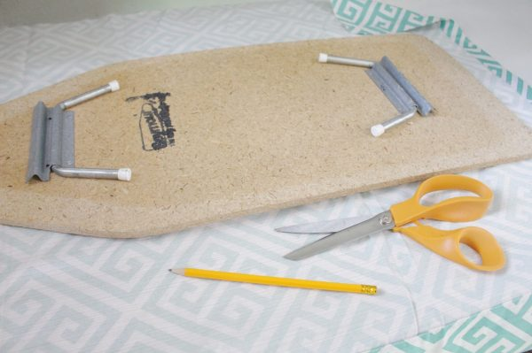 Mini ironing board cover gather materials