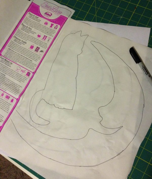 Moon Wall Hanging-pattern tracing