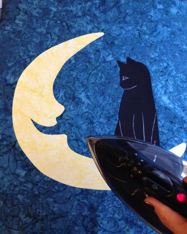 Moon Wall Hanging-press into place with iron