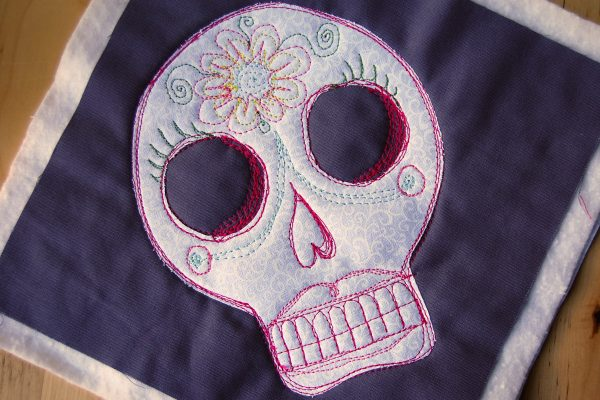 Sugar skull mug rug tutorial