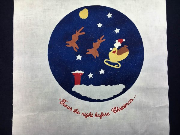 'Twas the Night Before Christmas Quilt-center on white background