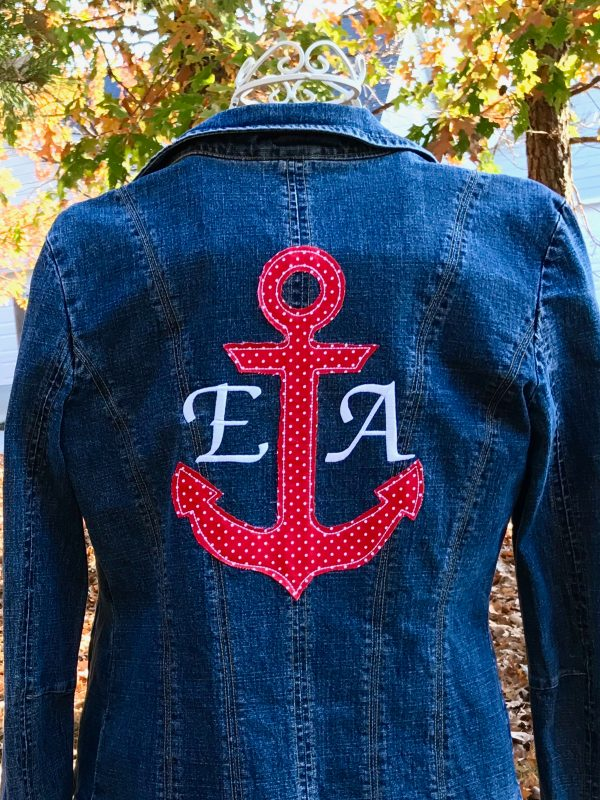 Denim Jacket with Machine Embroidery Applique