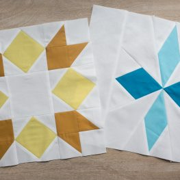 Golden Star and Snowflakes Quilt Block Patterns