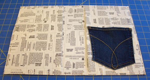 Jeans Composition Book Cover-Creating the inside sleeves