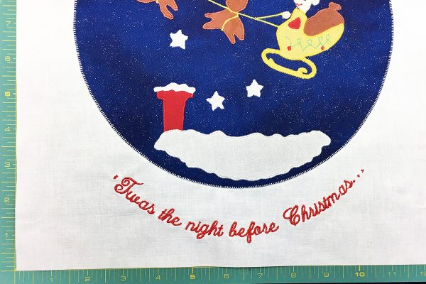 'Twas the night before Christmas quilt tutorial Step 14