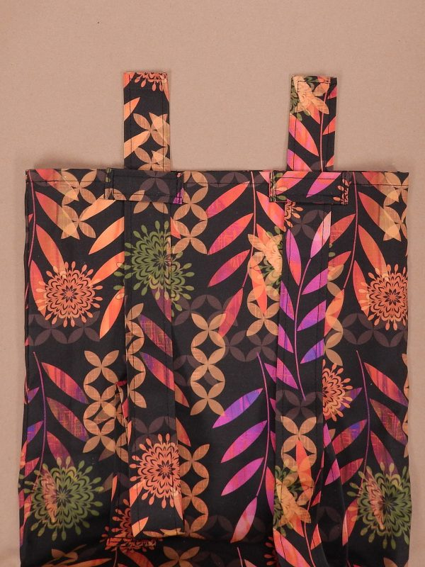 Easy Convertible Totebag/Backpack Tutorial Step 14: Thread the straps through the carriers.