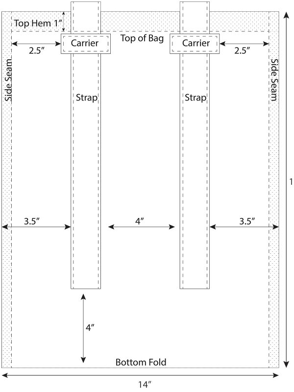 backpack illustration complet diagram