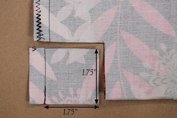 Easy Convertible Totebag/Backpack Tutorial Step 9: Trimming Corners