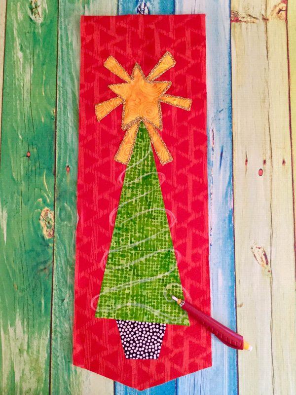 Jingle Bell Door Hanger-drawing the couching lines
