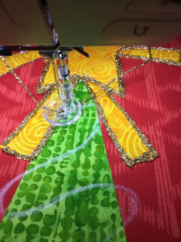 Jingle Bell Door Hanger-yarn choice for embellishment