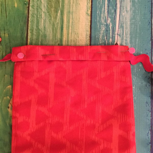Jingle Bell Door Hanger-pin ric rac ribbon to the top seam