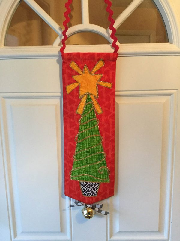 Jingle Bell Door Hanger-finished banner on door