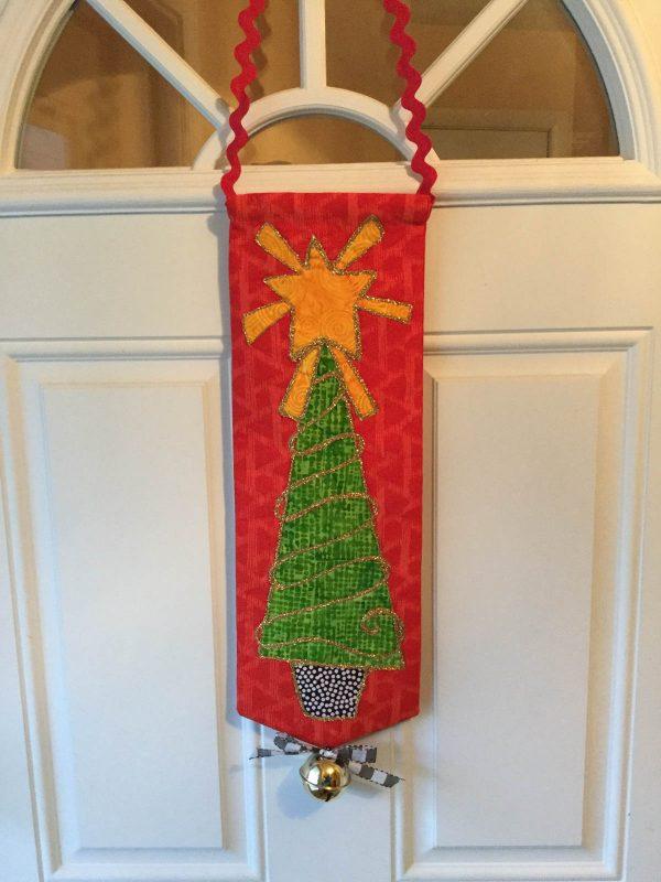 Jingle Bell Door Hanger-finished banner on door
