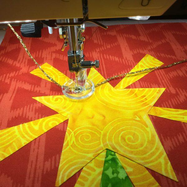 Jingle Bell Door Hanger-free-motion stitching