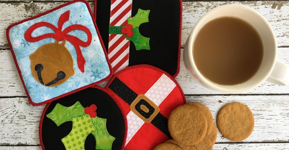 Make It Merry Holiday Coasters Tutorial from WeAllSew