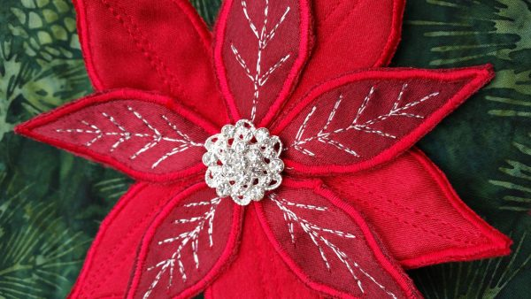Poinsettia Pin-embellish your pin