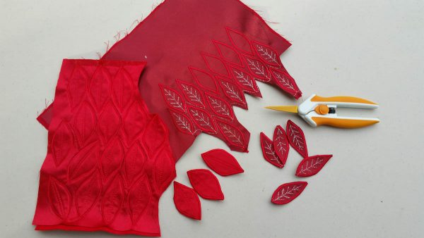 Poinsettia Pin-cut out each petal