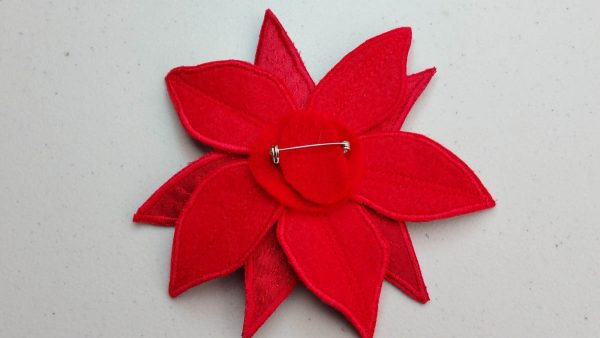 Poinsettia Pin-Secure in place with Fabri-tac glue
