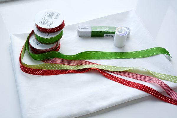 Ribbon Trimmed Christmas Skirt Girls-4865