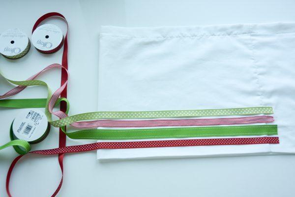 Ribbon Trimmed Christmas Skirt Girls-4874