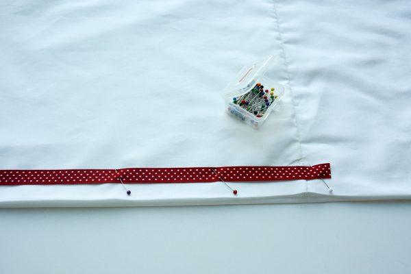 Ribbon Trimmed Christmas Skirt Girls-4877