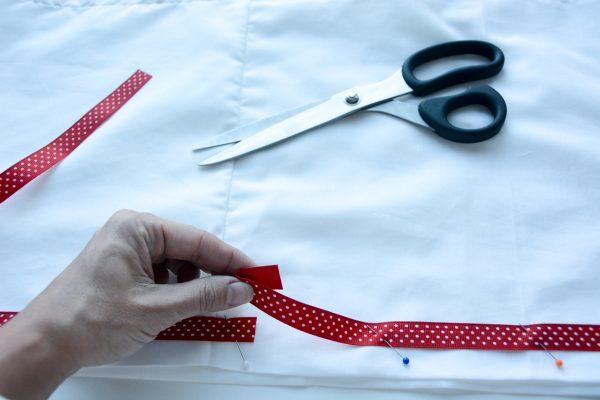 Ribbon Trimmed Christmas Skirt Girls-4878