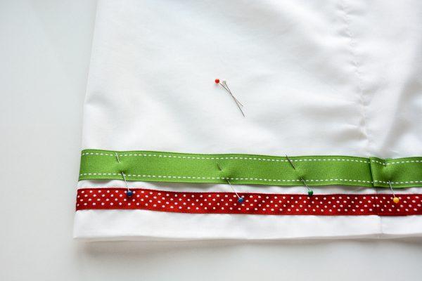 Ribbon Trimmed Christmas Skirt Girls-4883
