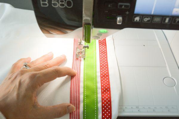 Ribbon Trimmed Christmas Skirt Girls-4887