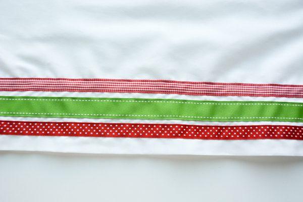 Ribbon Trimmed Christmas Skirt Girls-4888