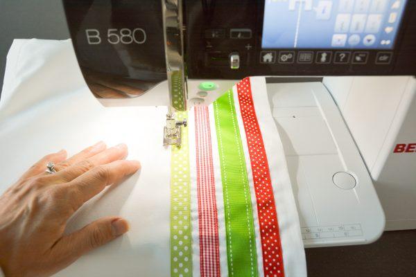 Ribbon Trimmed Christmas Skirt Girls-4889