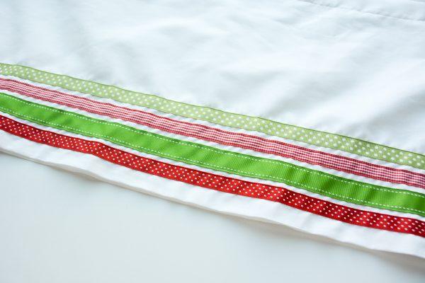 Ribbon Trimmed Christmas Skirt Girls-4892