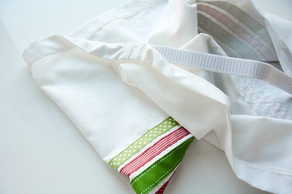 Ribbon Trimmed Christmas Skirt Girls-4893
