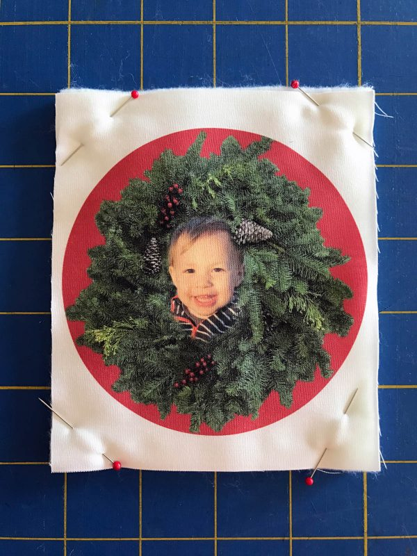 Stitched Photo Ornament-Stitch on the top or front of your sandwich