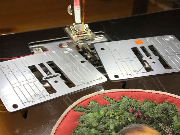 Stitched Photo Ornament-Change the straight stitch plate