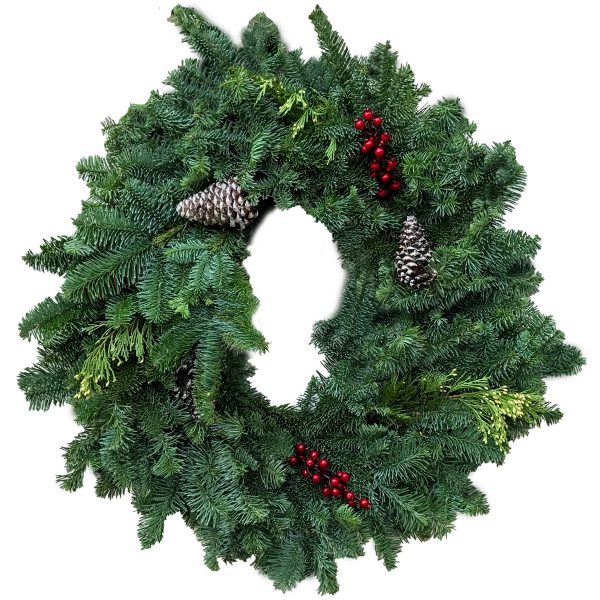 Stitched Photo Ornament-wreath photo