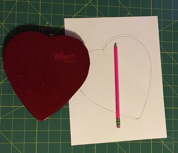 Chocolate Box Cover and Mug Rug-tracing