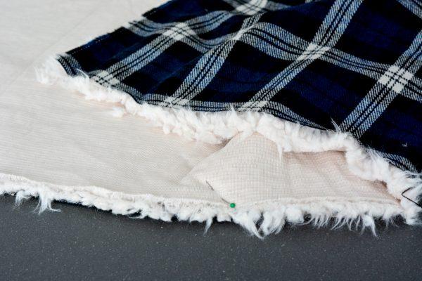 DIY Fur Lined Tartan Poncho-118