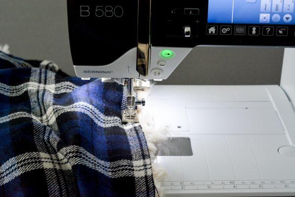 DIY Fur Lined Tartan Poncho-122