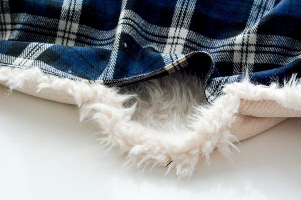 DIY Fur Lined Tartan Poncho-124