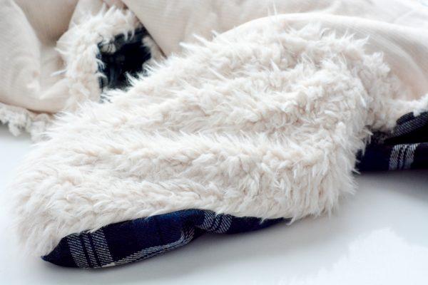 DIY Fur Lined Tartan Poncho-125