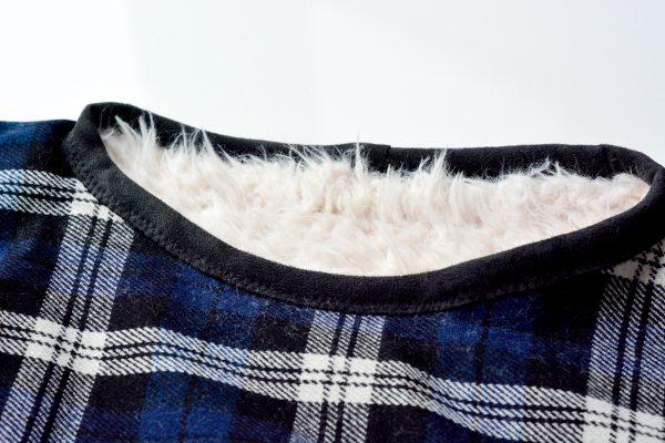DIY Fur Lined Tartan Poncho-168