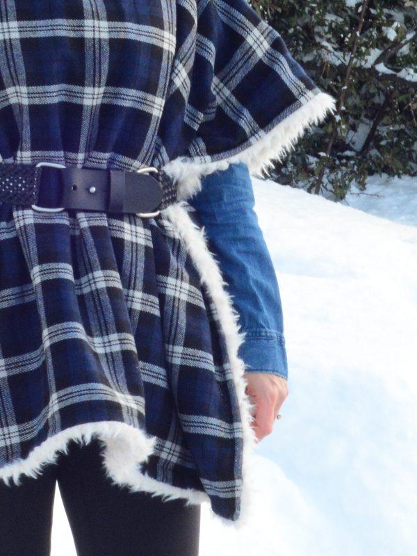 DIY Fur Lined Tartan Poncho-174
