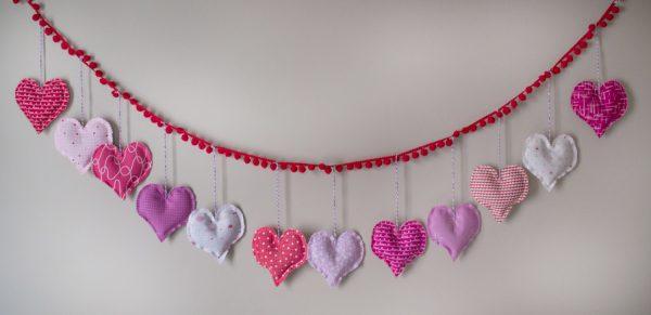 Lavender Sachet Heart Bunting Tutorial