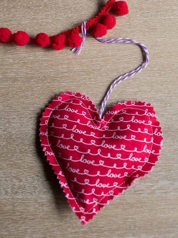 Lavender Sachet Heart Bunting Tutorial Step 8