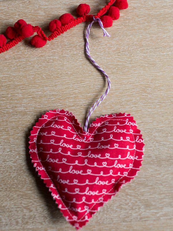 Lavender Sachet Heart Bunting Tutorial Step 8